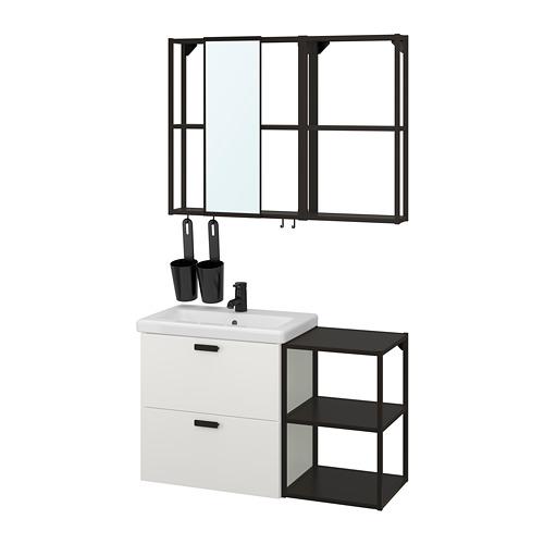 TVÄLLEN/ENHET - bathroom furniture, set of 15, white/anthracite Saljen tap | IKEA Hong Kong and Macau - PE819130_S4