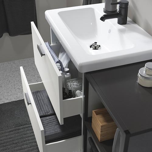 TVÄLLEN/ENHET - bathroom furniture, set of 15, white/anthracite Saljen tap | IKEA Hong Kong and Macau - PE819129_S4