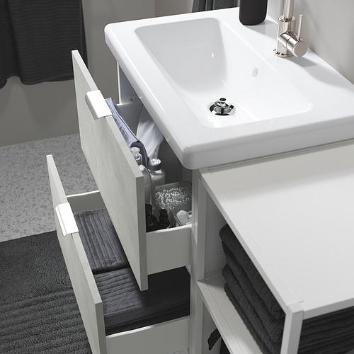 TVÄLLEN/ENHET - bathroom furniture, set of 18, concrete effect/white Glypen tap | IKEA Hong Kong and Macau - PE819159_S4