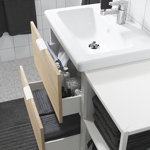 TVÄLLEN/ENHET - 浴室貯物組合 18件裝, oak effect/white Ensen tap | IKEA 香港及澳門 - PE819161_S4