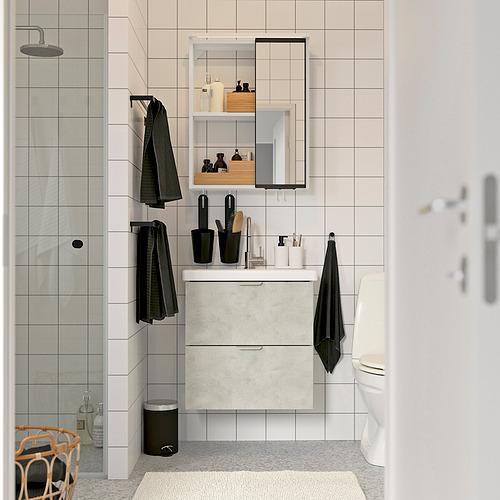 TVÄLLEN/ENHET - bathroom furniture, set of 13, concrete effect/white Glypen tap | IKEA Hong Kong and Macau - PE819198_S4