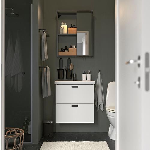 TVÄLLEN/ENHET - 浴室貯物組合 13件裝, white/anthracite Saljen tap | IKEA 香港及澳門 - PE819202_S4