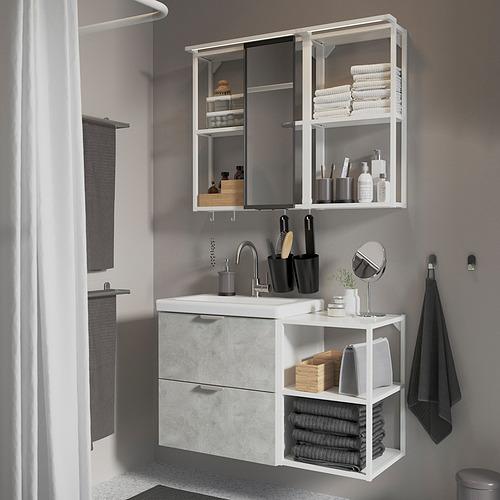 TVÄLLEN/ENHET - 浴室貯物組合 15件裝, concrete effect/white Glypen tap   IKEA 香港及澳門 - PE819208_S4