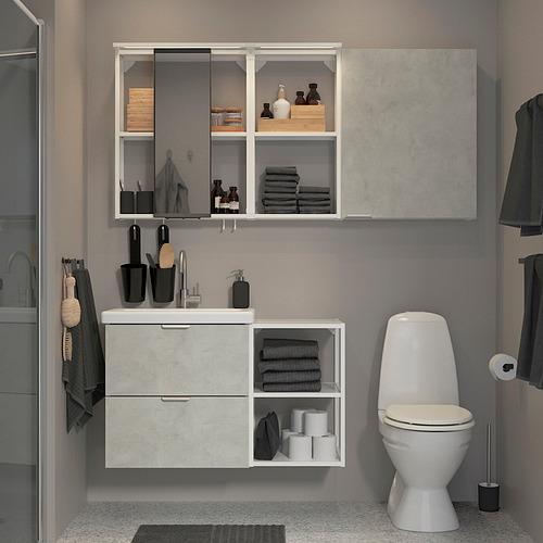 TVÄLLEN/ENHET - bathroom furniture, set of 18, concrete effect/white Glypen tap | IKEA Hong Kong and Macau - PE819224_S4