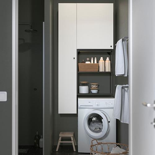 ENHET - storage combination for laundry, anthracite/white | IKEA 香港及澳門 - PE819238_S4