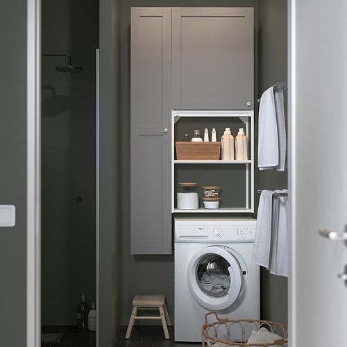ENHET - storage combination for laundry, white/grey frame | IKEA 香港及澳門 - PE819239_S4