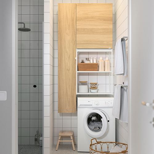 ENHET - storage combination for laundry, white/oak effect   IKEA 香港及澳門 - PE819237_S4