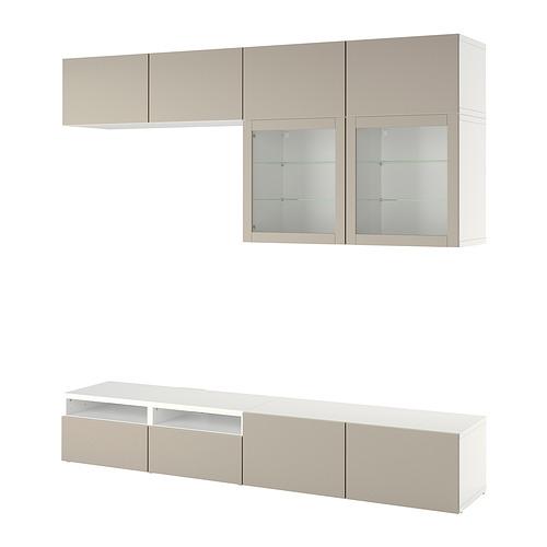 BESTÅ - 電視貯物組合/玻璃門, white Sindvik/Lappviken light grey/beige | IKEA 香港及澳門 - PE819243_S4