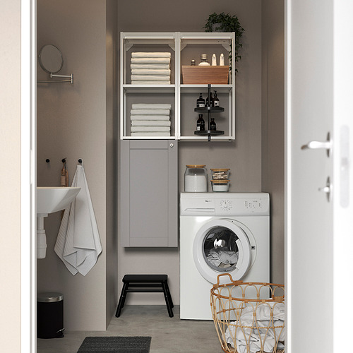ENHET - 上牆式貯物架組合, white/grey frame | IKEA 香港及澳門 - PE819268_S4
