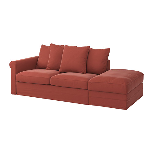 GRÖNLID - 3-seat sofa-bed, with open end/Ljungen light red | IKEA Hong Kong and Macau - PE782208_S4