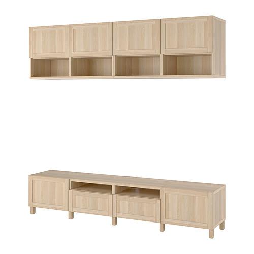 BESTÅ - 電視貯物組合, white stained oak effect/Hanviken/Stubbarp white stained oak effect | IKEA 香港及澳門 - PE819319_S4