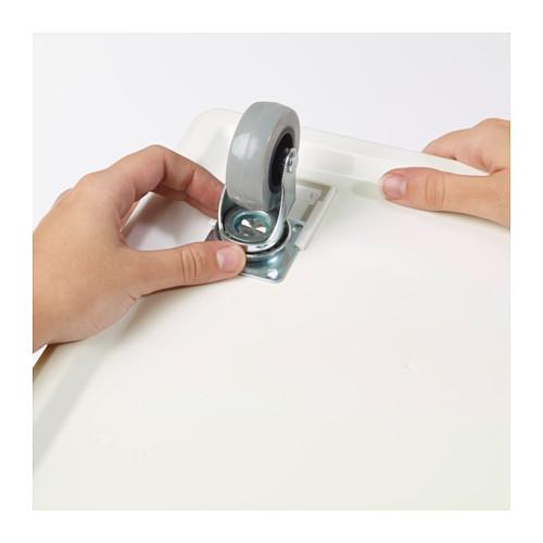 SOCKERBIT - 貯物盒連活輪及蓋, 白色 | IKEA 香港及澳門 - PE624921_S4