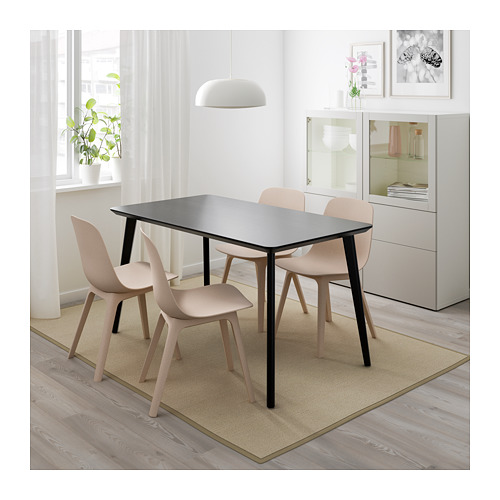 ODGER/LISABO table and 4 chairs