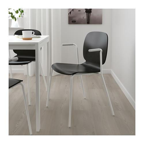 SVENBERTIL - chair with armrests, black/Dietmar white | IKEA Hong Kong and Macau - PE674084_S4