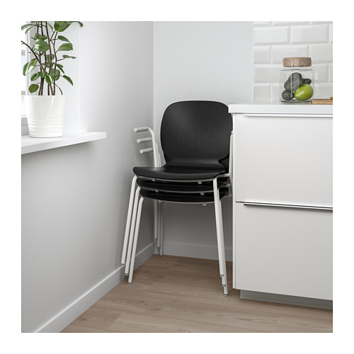 SVENBERTIL - chair with armrests, black/Dietmar white | IKEA Hong Kong and Macau - PE674085_S4