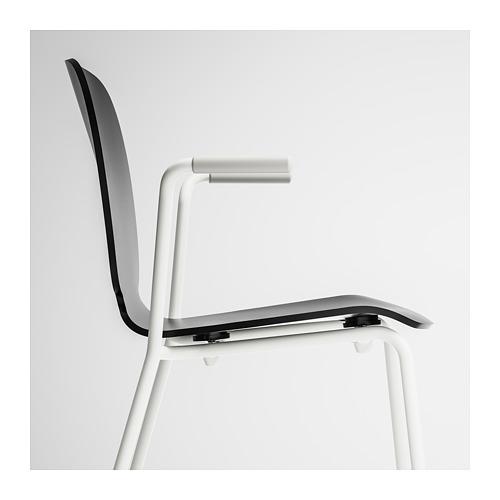 SVENBERTIL - chair with armrests, black/Dietmar white | IKEA Hong Kong and Macau - PE674086_S4