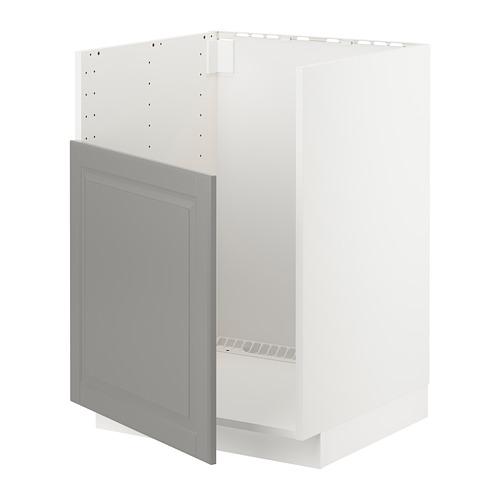 METOD - base cabinet f BREDSJÖN sink, white/Bodbyn grey | IKEA Hong Kong and Macau - PE723711_S4