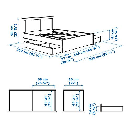 SONGESAND - 特大雙人床架連2個抽屜, Luröy   IKEA 香港及澳門 - PE764542_S4