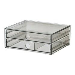 GODMORGON - 兩格抽屜小型貯物箱, 透明灰色 | IKEA 香港及澳門 - PE764572_S3