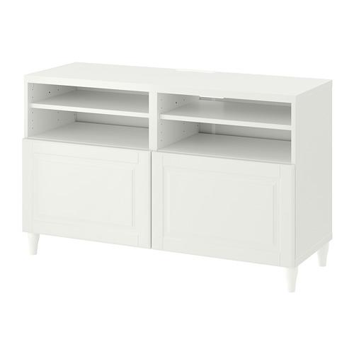 BESTÅ - TV bench with doors, white/Smeviken/Kabbarp white | IKEA Hong Kong and Macau - PE782242_S4