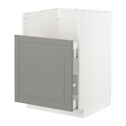 METOD/MAXIMERA - bc f BREDSJÖN snk/1 frnt/2 drws, white/Bodbyn grey | IKEA Hong Kong and Macau - PE723721_S4
