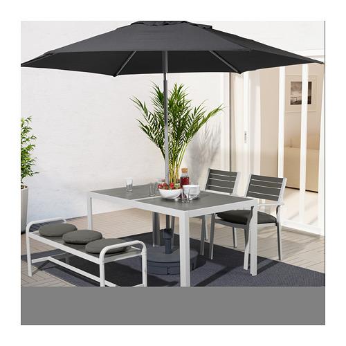 SJÄLLAND 戶外餐檯椅及長凳組合