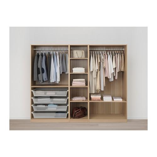 PAX - wardrobe, white stained oak effect/Meråker dark grey | IKEA Hong Kong and Macau - PE674102_S4