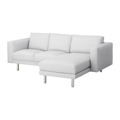 NORSBORG - 3-seat sofa, with chaise longue/Finnsta white/metal   IKEA Hong Kong and Macau - PE674125_S4
