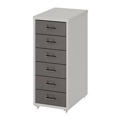 HELMER - drawer unit on castors, 28x44x69cm, dark grey/light grey | IKEA Hong Kong and Macau - PE819381_S3