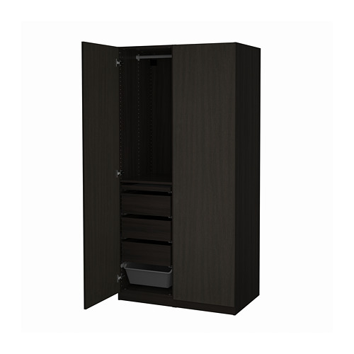 PAX/FORSAND - wardrobe combination, black-brown stained ash effect | IKEA Hong Kong and Macau - PE819428_S4