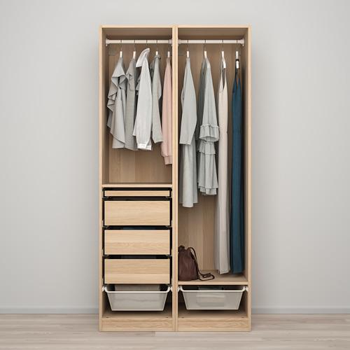 PAX/FORSAND - 衣櫃組合, 染白橡木紋   IKEA 香港及澳門 - PE819430_S4
