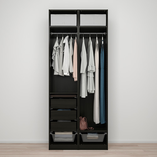 PAX/FORSAND - wardrobe combination, black-brown stained ash effect | IKEA Hong Kong and Macau - PE819435_S4