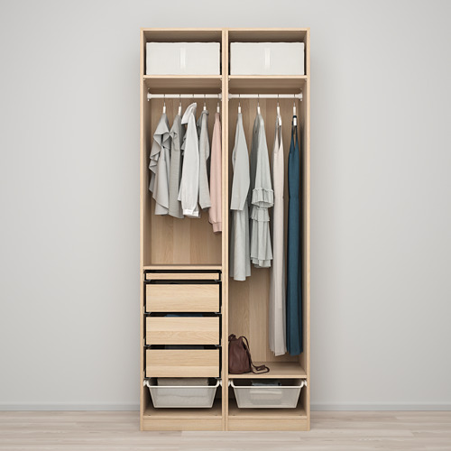 FORSAND/PAX - 衣櫃組合, 染白橡木紋 | IKEA 香港及澳門 - PE819434_S4