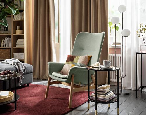VEDBO - high-back armchair, Gunnared light green | IKEA Hong Kong and Macau - PH175235_S4