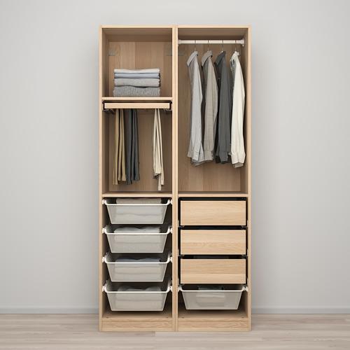 PAX/FORSAND - 衣櫃組合, 染白橡木紋 | IKEA 香港及澳門 - PE819454_S4