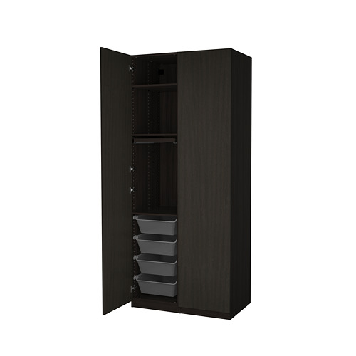 PAX/FORSAND - wardrobe combination, black-brown stained ash effect | IKEA Hong Kong and Macau - PE819451_S4