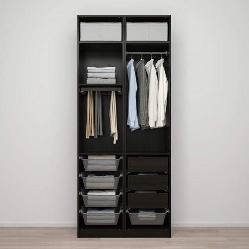PAX/FORSAND - wardrobe combination, black-brown stained ash effect | IKEA Hong Kong and Macau - PE819452_S4