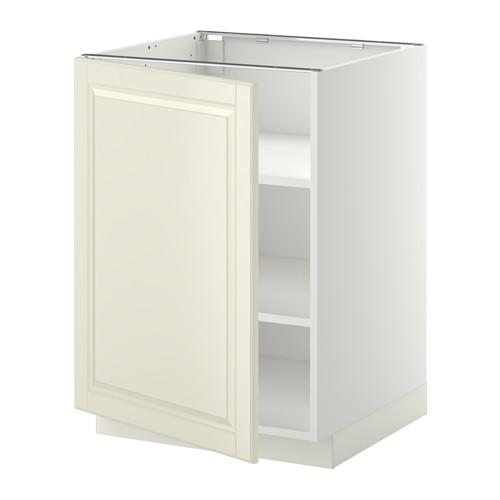 METOD - base cabinet with shelves, white/Bodbyn off-white | IKEA Hong Kong and Macau - PE345009_S4