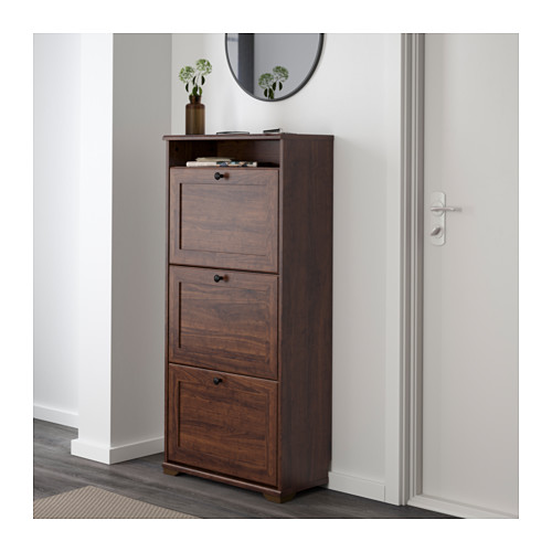 BRUSALI - shoe cabinet with 3 compartments, brown   IKEA Hong Kong and Macau - PE559943_S4