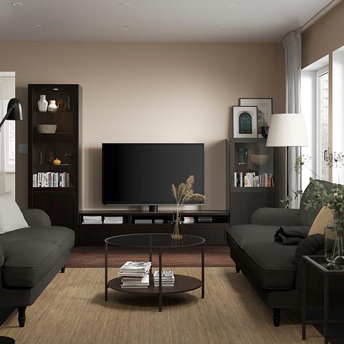 BESTÅ - 電視貯物組合/玻璃門, black-brown/Hanviken black-brown clear glass   IKEA 香港及澳門 - PE819549_S4