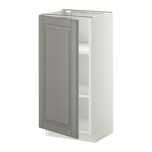 METOD - base cabinet with shelves, white/Bodbyn grey | IKEA Hong Kong and Macau - PE345125_S4