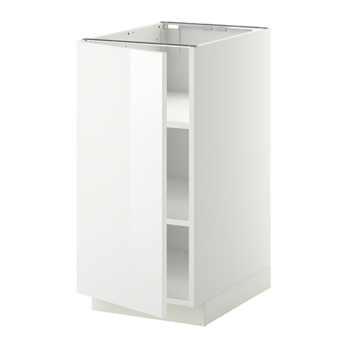 METOD - base cabinet with shelves, white/Ringhult white | IKEA Hong Kong and Macau - PE344955_S4