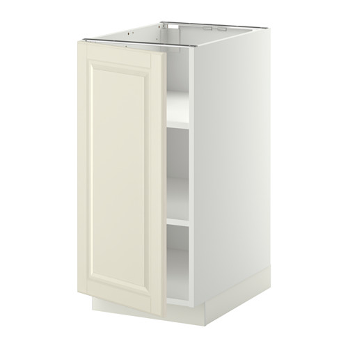 METOD - base cabinet with shelves, white/Bodbyn off-white   IKEA Hong Kong and Macau - PE344967_S4
