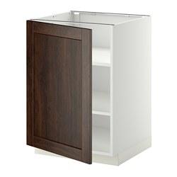 METOD - 地櫃連層板, 白色/Edserum 褐色   IKEA 香港及澳門 - PE344993_S3