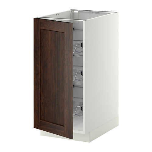 METOD - base cabinet with wire baskets, white/Edserum brown | IKEA Hong Kong and Macau - PE345060_S4