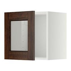 METOD - 玻璃門吊櫃, 白色/Edserum 褐色   IKEA 香港及澳門 - PE344750_S3