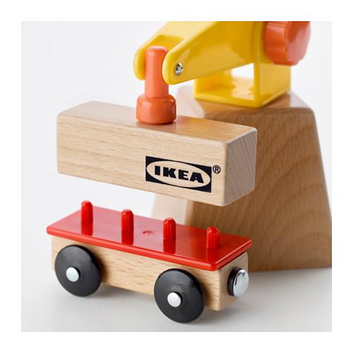 LILLABO 玩具起重機及貨車,3件套裝