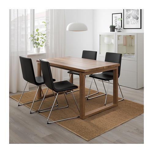 VOLFGANG/MÖRBYLÅNGA - table and 4 chairs, brown/Bomstad black   IKEA Hong Kong and Macau - PE674355_S4
