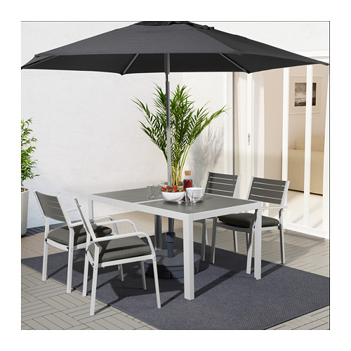 SJÄLLAND - 戶外檯連扶手椅組合, 深灰色/Frösön/Duvholmen 深灰色 | IKEA 香港及澳門 - PE674374_S4