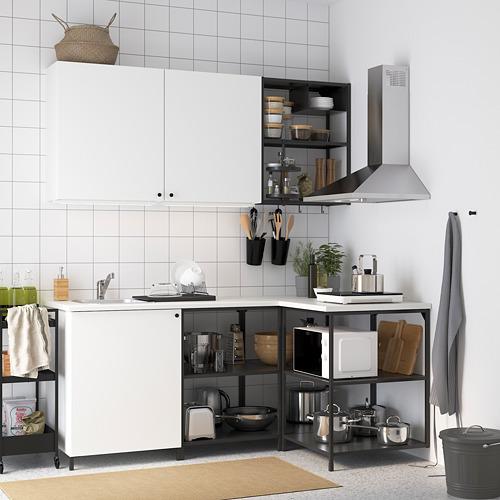 ENHET - 角位廚房, 炭黑色/白色   IKEA 香港及澳門 - PE819748_S4